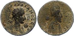 Mesopotamien, AE (9,50g), Abgar X., 242-244. Av: Büste Gordians III. Nach Rechts, Davor Stern, Darum Umschrift. Rev: Büs - Romaines