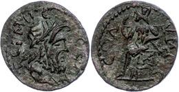 Pisidien, Tremessos, Æ (11,06g), 3. Jhd. Nach Chr., Pseudoautonome Prägung. Av: Zeuskopf Nach Rechts, Darum Umschrift. R - Romaines