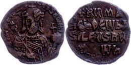Konstantinos VII. Porphyrogennetos Mit Romanos I. Lekapenos, 920-944, Æ-Follis (5,42g). Av: Büste Mit Kreuzkrone, Labaro - Byzantines