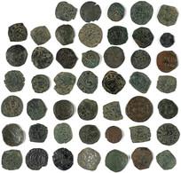 SIZILIEN, Normannen, Lot Von 47 Kupfer- Und Einer Silberprägung In Unterschiedlichen, Z.T. Besseren Erhaltungen. - Otras Monedas