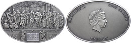 5 Dollars, 2013, Ceilings Of Heaven, Raphael Room Nano, 999er Silber, Antik Finish, Stein, In Kapsel Mit Zertifikat, St. - Cook