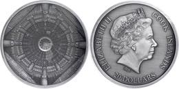 20 Dollars, 2015, Temple Of Heaven - Beijing, 999er Silber, 100g, Antik Finish, Eingeschweißt, Etui Mit OVP Und Zertifik - Cook