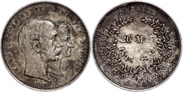 2 Kronen, 1892, Christian IX. Auf Die Goldene Hochzeit, KM 800, Vz-st.  Vz-st - Dinamarca