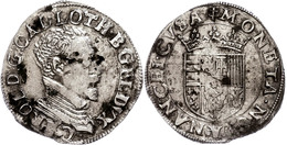 Lothringen, Teston, O. J., 1545-1608, Karl III., Nancy, Ss-vz.  Ss-vz - Francia