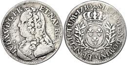 1/5 Écu Aux Branches D'olivier, 1730, A (Paris), Louis XV., Gadoury 298(R), S-ss.  S-ss - Francia