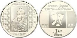 1,5 Euro, 2008, 150. Jahrestag Des Handelsvertrages Mit Japan - Ichikawa Ebizo IV., KM 1549, Schön 971, Im Etui Mit OVP  - Francia
