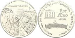 1,5 Euro, 2008, 60 Jahre UNESCO - Grand Canyon National Park, KM 1574, Schön 989, Im Etui Mit OVP Und Zertifikat, Angela - Francia