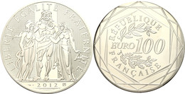 100 Euro, 2012, Herkulesgruppe, Im Papieretui, Angelaufen, PP.  PP - Francia