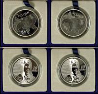 Set Zu 2x 10 Euro, 2012, Le Chat Botte, Je 900er Silber, In Etuis Mit OVPs Und Zertifikaten, PP. Auflage Je Münze 5.000  - Francia