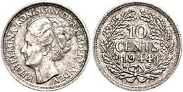 10 Cent, 1944, P, Wilhelmina, Schulman 1059, Vz.  Vz - Pays-Bas