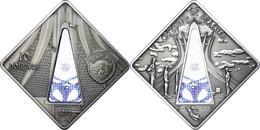 10 Dollars, 2012, Holy Windows - Brasilia Cathedral, 925er Silber, Antik Finish, In Kapsel Mit Zertifikat, St. Auflage N - Palau