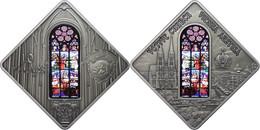 10 Dollars, 2012, Holy Windows - Votive Church Vienna, 925er Silber, Antik Finish, In Kapsel Mit Zertifikat, St. Auflage - Palau