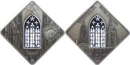 10 Dollars, 2013, Holy Windows - St. Vitus Prague, 50g Silber, Antik Finish, Etui Mit OVP Und Zertifikat, St. Auflage Nu - Palau