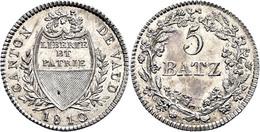 Waadt, 5 Batzen, 1810, HMZ 2-1002e, F. St. - Suiza