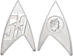 1 Dollar, 2016, 50 Jahre Star Trek - Delta Emblem, 1 Unze Silber, In Plexiglas, Etui Mit Zertifikat, PP. Auflage Nur 5.0 - Tuvalu