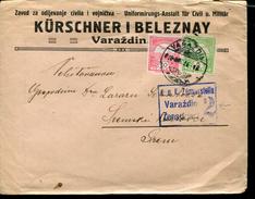 HUNGARY CROATIA VARAZDIN WWI CENSORED COVER KÜRSCHNER I BELEZNAY UNIFORMIRUNGS-ANSTALT FÜR CIVIL U MILITAR - Cartas