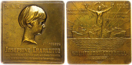 Belgien, Bronzeplakette (ca. 70,10x70mm, Ca. 144,18g), 1930, Von A. Mauquoy, Société John Cockerill. Av: Kopf Der Joseph - Monedas