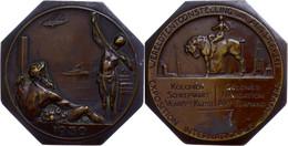 Belgien, Oktogonale Bronzeplakette (ca. 80,90x81mm, Ca. 163,12g), 1930, Von Dupon, Zur Weltausstellung In Antwerpen. Av: - Monedas