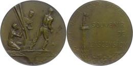 Frankreich, Bronzemedaille (Dm. Ca. 41mm, Ca. 27,31g), O.J. Av: Drei Arbeiter Beim Erreichten Des Eiffelturms. Rev: Spit - Monedas