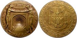 Belgien, Bronzemedaille (Dm. Ca. 70,80mm, Ca. 127,75g), 1933, Von P. Van Riel. Av: Tunneleinfahrt, Links Und Rechts Steh - Monedas