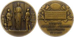 Frankreich, Bronzemedaille (Dm. Ca. 50mm, Ca. 57,56g), 1933, Von C. Fraisse. Av: Zwei Personen Vor Göttin. Rev: Zweige U - Monedas