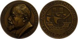 Frankreich, Bronzemedaille (Dm. Ca. 63mm, Ca. 110,07g), 1933, Von J. Boucher, Auf George Lemarchand. Av: Schiff, Im Auße - Monedas