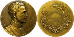 Belgien, Leopold III., Bronzemedaille (Dm. Ca. 65mm, Ca. 98,97g), 1934, Von J. Witterwulche. Av: Brustbild Nach Rechts,  - Monedas