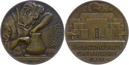 Frankreich, Bronzemedaille (Dm. Ca. 32mm, Ca. 15,59g), 1935, Von M. Delannoy, Auf Die Kunst- Und Technikausstellung. Av: - Monedas