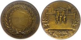 Frankreich, Bronzemedaille (Dm. Ca. 71,90mm, Ca. 148,47g), 1937, Von Saget. Av: Verleihungszeremonie Vor Gebäuden. Rev:  - Monedas