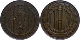 Belgien, Lüttich, Bronzemedaille (Dm. Ca. 61,10mm, Ca. 106,10g), 1935, Von L. Dupont, College Saint Servais. Av: Jungfra - Monedas