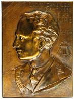 Belgien, Aufstellbare, Große Bronzeplakette (ca. 21x15,40cm, Ca. 970g), 1944, Von R. Servais. Av: Büste Leopolds III. Sc - Monedas