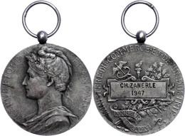 Frankreich, Silbermedaillon (Dm Ca. 22mm, 10,05g), 1947, Von Barrel. Zum Ehren Des Ministers Für Handel Und Industrie Si - Monedas