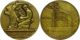 Frankreich, Bronzemedaille (Dm. Ca. 55mm, Ca. 72,34g), O.J., Von H. Dropsy. Av: Kniender Pan Vor Feuer, Im Abschnitt Dar - Monedas