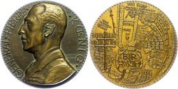 Frankreich, Bronzemedaille (Dm. Ca. 68mm, Ca. 205,85g), O.J., Von A. De Jaeger, Auf Den General Pierre Koenig. Av: Büste - Monedas
