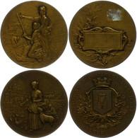 Frankreich, Lot Von Zwei Bronzemedaillen Von Rasumny, Beide Zum Thema Landwirtschaft, Je Vz. - Monedas