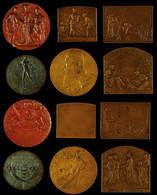 Frankreich/Belgien, Lot Von Drei Bronzeplaketten Und Drei Bronzemedaillen Zu Unterschiedlichen Anlässen. Dabei H. Dropsy - Monedas