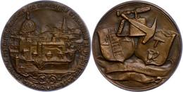 Frankreich, Bronzemedaille (Dm. Ca. 64,10mm, Ca. 156,07g), 1952, Von Corbin. Av: Pariser Stadtansicht, Darum Umschrift.  - Monedas