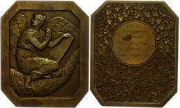 Frankreich, Oktogonale Bronzemedaille (Dm. Ca. 73,15x54,90mm, Ca. 101,97g), 1954, Von F. Fraisse. Av: Geflügelte Weiblic - Monedas