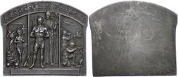 Frankreich, Einseitige, Versilberte Bronzeplakette (ca. 53x45,10mm, Ca. 56,57g), O.J., Von R. Tschudin. Av: Stehender Si - Monedas
