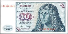 10 Deutsche Mark, Bundesbanknote, 2.1.1980, Serie CJ 9626064 C, Ro. 281, Bug Links, Erhaltung I-II., Katalog: Ro. 281 I- - [ 7] 1949-… : FRG - Fed. Rep. Of Germany