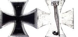 """Preußen, Eisernes Kreuz 1914  1. Klasse, Flache Form, Unter Gegenhaken Herstellerpunze """"L54"""" Schauerte & Höhfeld/Lüdensc - Militaria"""