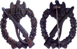 Infanterie-Sturmabzeichen In Bronze, Hohlprägung, Getragen, Zustand 2., Katalog: OEK3891/1 II - Militaria