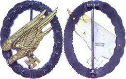 """Fallschirmschützenabzeichen, Feinzink, Rückseitig Hersteller """" G.H. Osang Dresden"""", Vergoldung Des Adler Noch Gut Erhalt - Militares"""