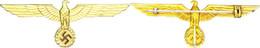 Brustadler Für Die Weiße Sommerjacke Für Offiziere, Metall, Goldene Lackierung, 11,01 G, Breite Ca. 9,5 Cm, Ungetragen,  - Militaria