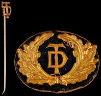 Deutsche Turnerschaft (DT), Mitgliedsabzeichen 3. Form, 9 Mm, Mit Stoffabzeichen, Zustand 2., Katalog: Hüs.8720af II - Militaria