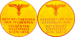 """Bernsteinmedaille 1939, Prämie Der Studenten-Weltspiele In Wien, Hoheitsadler über Weißer Schrift """"Dem Weltmeister Der S - Militaria"""