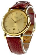 Herrenarmbanduhr SAVAL SWISS. Quartz. Mit Datumsanzeige. 2. Hälfte 20. Jh. Uhrglas Mit Leichten Gebrauchsspuren. Armband - Monnaies & Billets