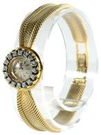 Zierliche Damenarmbanduhr Mit Handaufzug. Omega. Wohl 1. Hälfte 20. Jh. 750er GG, Gestempelt. Das Uhrgehäuse Umkränzt Vo - Monnaies & Billets