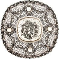Äußerst Dekorative Durchbrochene Obstschale Aus Silber Mit Rosen- Und Puttidekor. Deutschland, Gestempelt. 800er Silber, - Monnaies & Billets