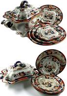 Konvolut Imari-Pottery Der Firma Ashworth Brothers, Hanley. Wohl 1862-ca. 1891. Bestehend Aus: Einer Terrine, Ca. 33,5 X - Monnaies & Billets